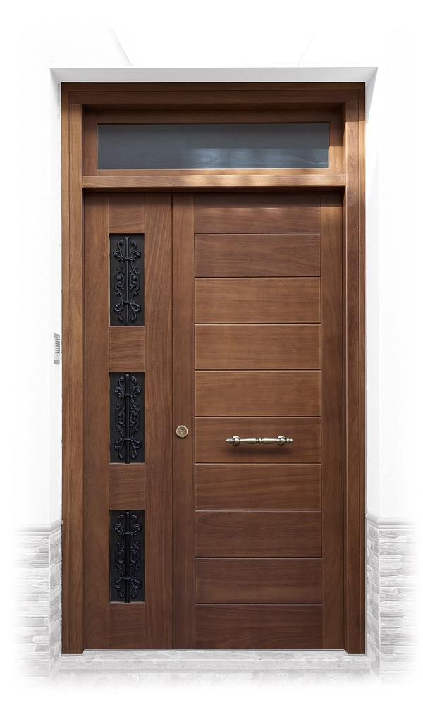 Puertas exterior r sticas y macizas carpinteria fajusa for Puertas macizas exterior